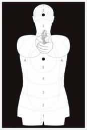 Alvo Silhueta Humanoide - Padrão SAT/ANP - Polícia Federal