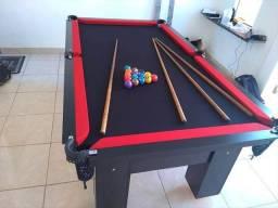 Mesa de Redes com a Cor Preta Tecido Preto e Borda Vermelha Mod YBDS8212