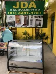 Balcão refrigerado para tortas / sobremesas - 1 ano de garantia - inox