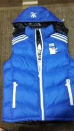 Usado, Adidas colete Masculino Tamanho G azul e preto Super Estofado comprar usado  Curitiba