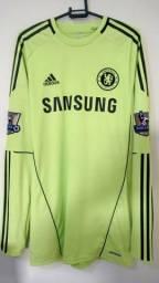 Chelsea Goleiro 2010/2011 Cech Techfit De Jogo Inglaterra Camisas do Real Madrid e etc