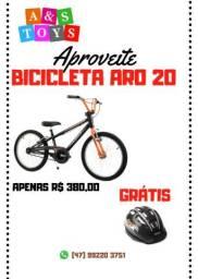 Bicicleta aro 20 masculina grátis capacete