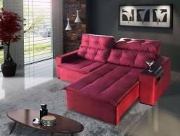 Sofá Retrátil e Reclinável com Pillow Sochi- Novo * Faça seu Pedido