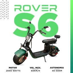 Scooter Elétrica 2000 watts Rover S6 - 2 lugares diversas cores