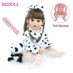 Boneca Bebê Reborn 55cm Original 100% Silicone - 12x sem juros