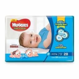 Vendo Kit de Fraldas Huggies Tamanho P Tripla proteção