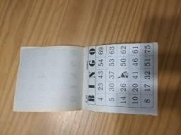 Bloquinho para jogo de bingo