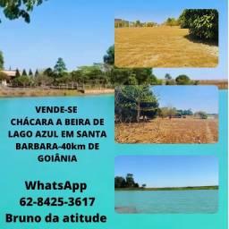 Título do anúncio: Chácara com lago azul 40km de Goiânia confira e me chama no zap