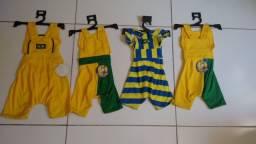 Macaquinho pet tema Brasil olimpíada/copa