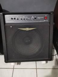 Contrabaixo + Amplificador O'Neal OCB600 (Baixo e Teclado)