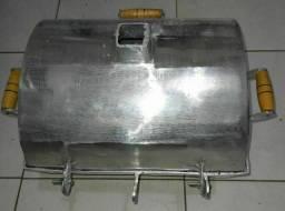 Churrasqueira////churrasqueira a bafo alumínio grosso fundido, não fura e não enferruja