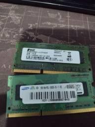 Duas memórias ddr3 2gb