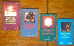 Lote 4 Livros: Istvan Meszaros (2 títulos) + Ernest Mandel + Leon Trotsky Sociologia