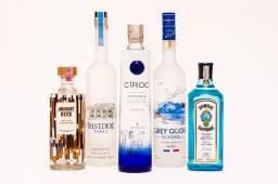 Vodka, Whiskys, Gin, Tequila, Cachaça. Destilados Linha Premium