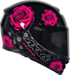 Capacete Axxis Eagle Evo Flores Pink