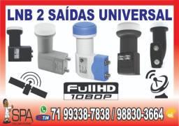Lnb 2 Saidas Universal Banda KU para Gobox