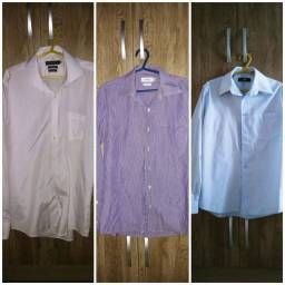 03 camisas sociais masculina