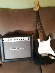 Guitarra Dolphin + Amplificador Mackintec