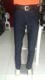 Promoção-Calças jeans com lycra MASCULINA Preta