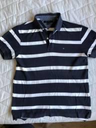 13729736a9 Camisa Polo azul listrada Tommy Hilfiger