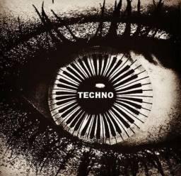Camiseta Estampa Techno - branca