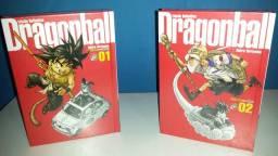 Mangá Dragon Ball edição capa dura vol 1 e 2