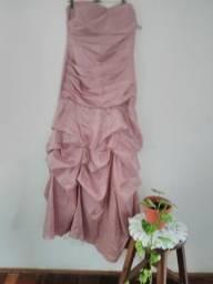 Vestido festa rosa seco