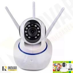 Câmera Ip Três Antenas Wi Fi, Hd ,onvif, P2p Visão Noturna