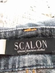 Calça jeans com Lycra, estilo skinny! marca Scalon!
