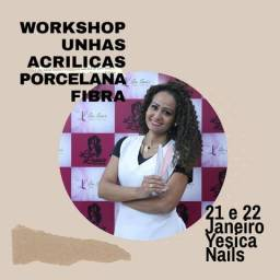 Curso de alongamento de unhas. acrílicas porcelana e fibra Yesica Nails.