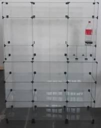 Balcão Vitrine Torre de vidro em 10x sem juros no cartão de crédito
