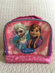 Linda Lancheira Térmica rosa Infantil Frozen Ana E Elza