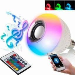 Lâmpada LED com caixa de som musica Bluetooth