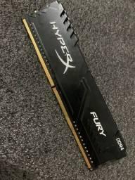 Título do anúncio:  Memória HyperX Fury DDR4 4GB 2666MHz