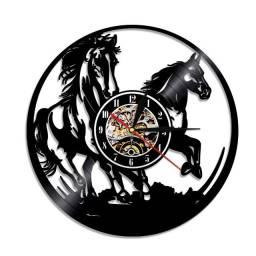 Relógio de parede, Cavalos, em vinil