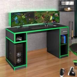 Título do anúncio: escrivaninha games 1,36 corrediças telescópicas