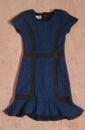 Título do anúncio: Vestido Azul John John - tamanho 12 a 14