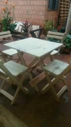 Jogos de mesas e cadeiras desmontáveis
