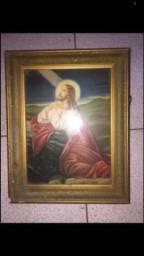 Título do anúncio: Quadro. Motivo religioso. Jesus. Jesus no monte das Oliveiras. Antiguidade. Decoração