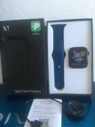 Smartwatch X7 Série 5 Fit Pro Freqüência Cardíaca e Monitor De Pressão Arterial