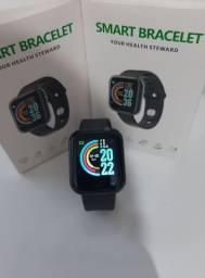 Relógio Smartwatch D20 - Bluetooth Pressão Arterial Frequência Cardíaca Oxigênio no sangue
