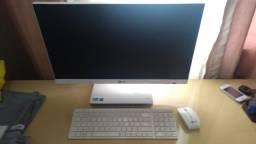 Computador lg all in one. branco. muito novo