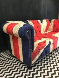 Sofa chesterfield bandeira Inglaterra comprar usado  Porto Ferreira