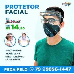 Máscara Protetora Facial R$ 14,90