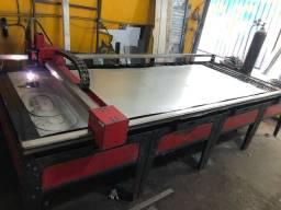 Máquina de corte plasma Cnc com fonte reserva Esab cutmaster 45