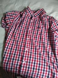 Camisa social manga curta thing tamanho g