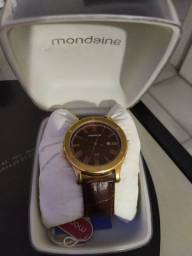 Relógio Mondaine pulseira de couro
