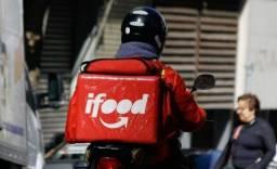 Motoboy cadastrado no I Food e outros Apps