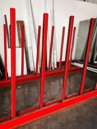 6mt Cavalete/Paliteiro classificador para estocagem de vidros