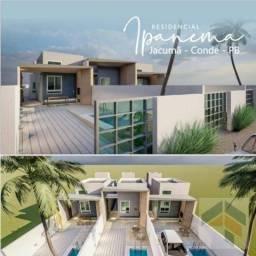 Casa com 2 dormitórios à venda, 72 m² por R$ 185.000,00 - Carapibus - Conde/PB